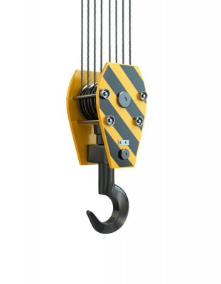 Sticker Crane hook. 3d