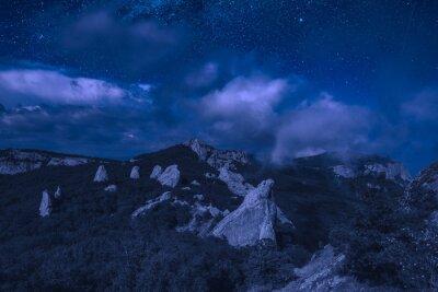 Crimea valley at night