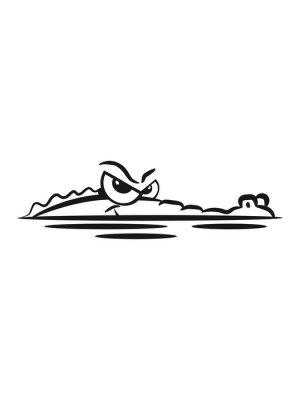 Sticker Crocodile lauren water