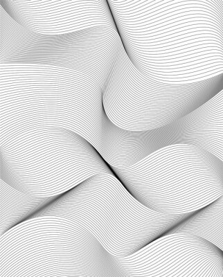 Sticker curvy lines, stylish abstract background