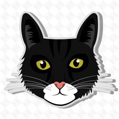 Sticker cute cat design