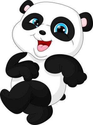 Sticker Cute funny baby panda