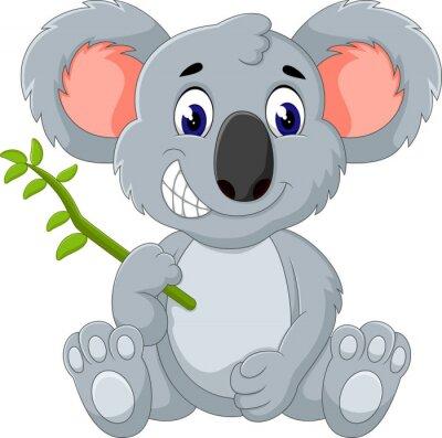 Sticker Cute koala cartoon of illustration