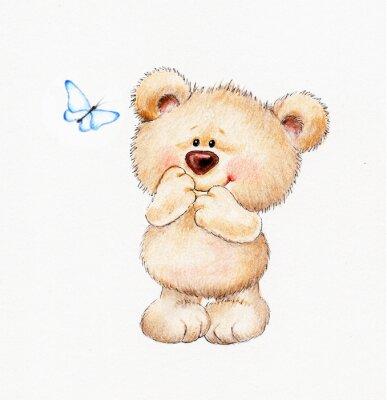 Sticker Cute Teddy bear