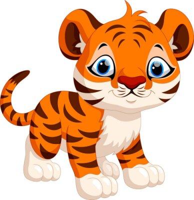 Sticker Cute tiger cartoon