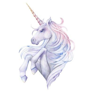 Sticker Cute watercolor unicorn