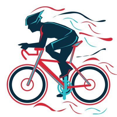 Sticker cycling, bycicle, sports