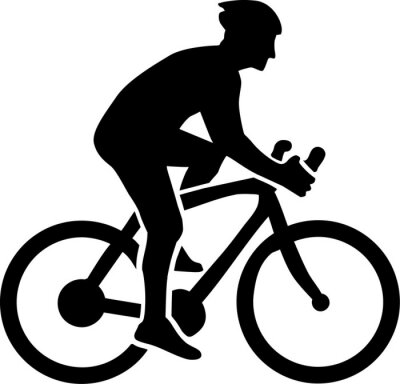 Sticker Cycling Silhouette