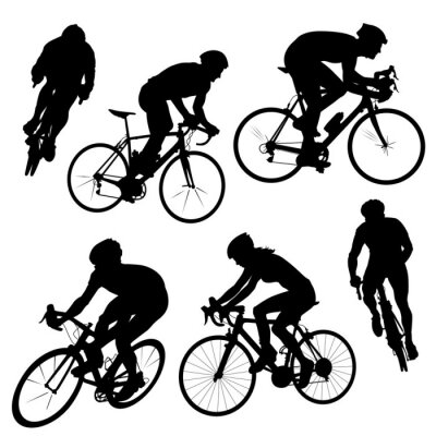 Sticker cycling silhouettes