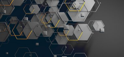 Sticker Datos en la nube y red.Concepto de ciencia y tecnología.Malla y formas geométricas