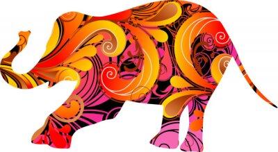 Sticker Decorative elephant