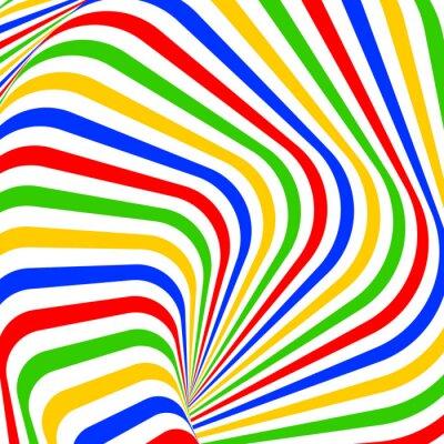 Sticker Design colorful vortex movement illusion background