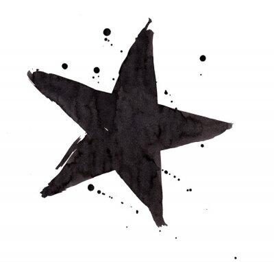 Sticker Design element. Vintage grunge Retro star.