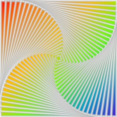 Sticker Design multicolor swirl movement illusion background