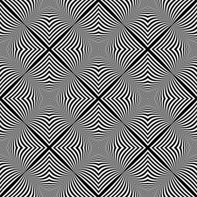 Sticker Design seamless monochrome illusion background