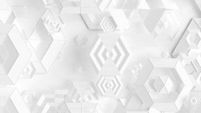 Sticker Detailed geometric background. 3d illustration, 3d rendering.