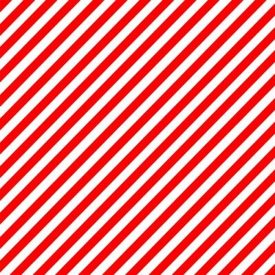 Sticker Diagonal stripe red-white pattern vector
