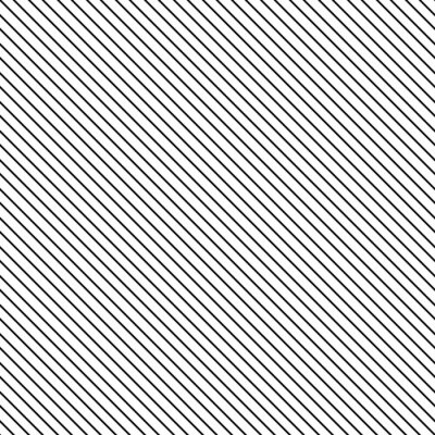 Sticker Diagonal stripe seamless pattern. Geometric classic black and white thin line background.