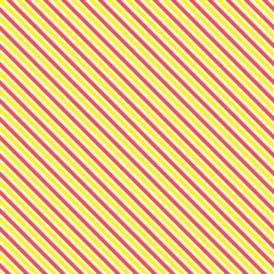 Sticker Diagonal stripe seamless pattern. Geometric classic yellow and red line background.