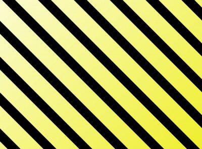 Sticker Diagonale Streifen gelb schwarz
