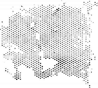 Sticker Dissipating degenerating halftone pattern texture. Vector texture grunge overlay.