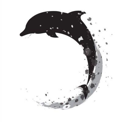 Sticker dolphin