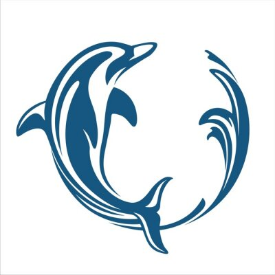 Sticker DOLPHIN CIRCLE WATER