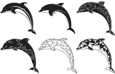 Sticker dolphins