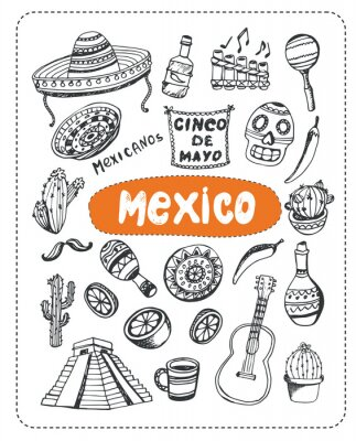 Sticker Doodle about Mexico.