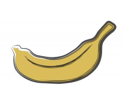 Sticker doodle banana