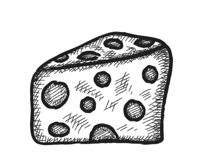 Sticker doodle cheese