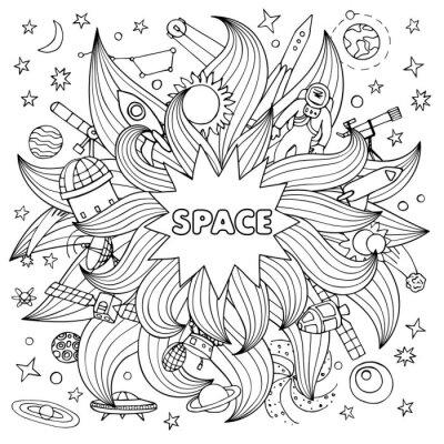 Sticker Doodle space elements