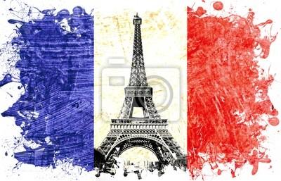 drapeau france paris tour eiffel