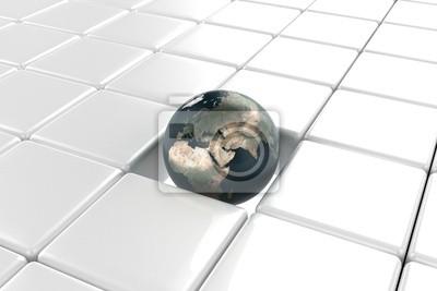 Sticker earth on