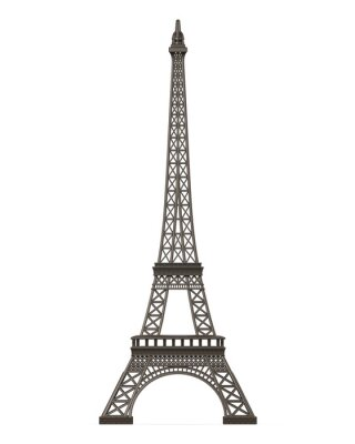 Sticker Eiffel Tower Isolated