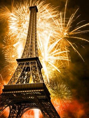 eiffel with fireworks