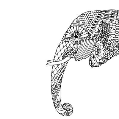 Sticker Elephant head