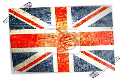 English flag with safety pins