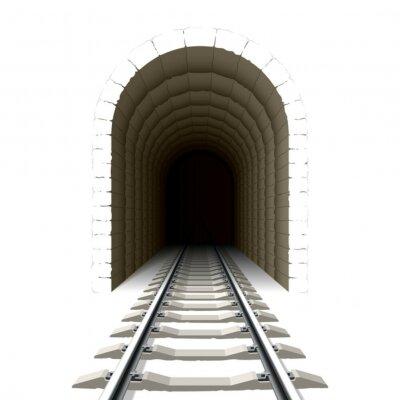 Sticker Entrance to railway tunnel