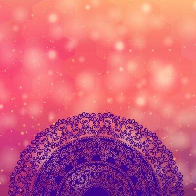 Sticker Ethnic & Colorful Henna Mandala design, very elaborate and easily editable