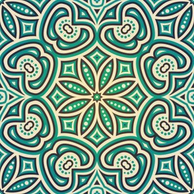 Sticker Ethnic floral seamless pattern
