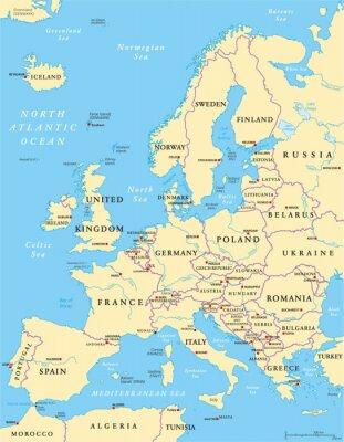 Sticker Europe Political Map