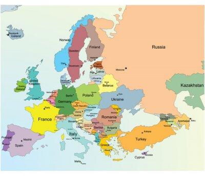 Sticker European Map.