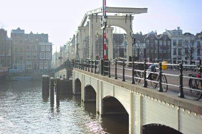 Sticker Famous Skinny Bridge, Amsterdam