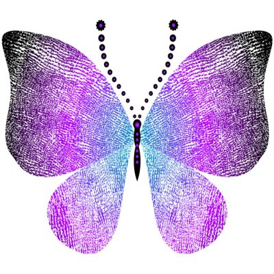 Sticker Fantasy grungy vintage butterfly