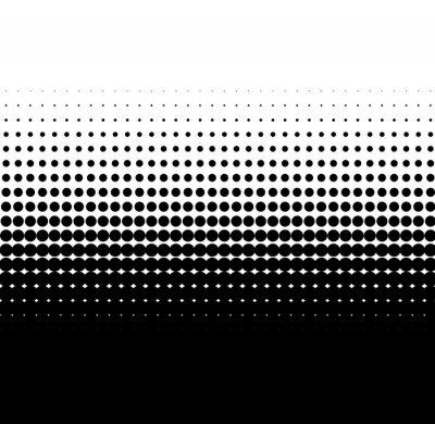 Sticker Farbübergang schwarz weiß aus Punkten