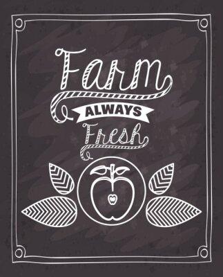 Sticker farm fresh food design