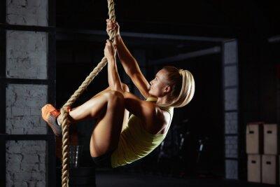 Sticker Female crossfit athlete exercising