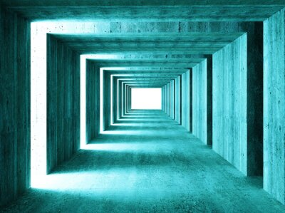 Sticker fine image of 3d concretet tunnel abstract background