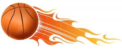 Sticker fire basketball